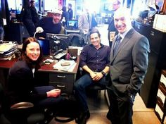 The VPD! Rachel Nichols, Victor Webster, and Brian Markinson on set of Continuum (via @wwwlive98 on Twitter)
