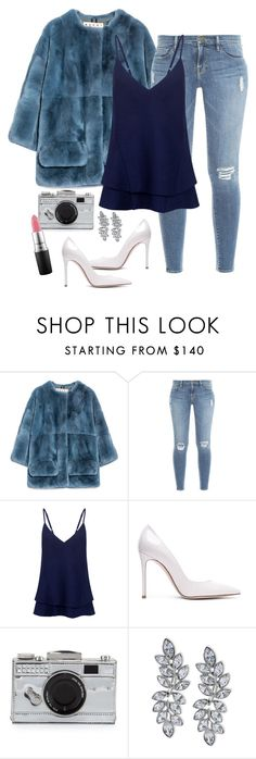 """quick look"" by humblechick1 ❤ liked on Polyvore featuring Marni, Frame Denim, C/MEO COLLECTIVE, Gianvito Rossi, Kate Spade, Kenneth Jay Lane and MAC Cosmetics"