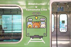 緑の山手線 リラックマトレイン l Masaki Tokutomi