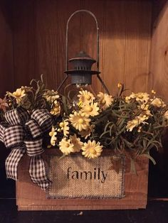 Handmade Primitive Family Wood Box
