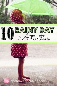 10 Fun Rainy Day Activities!!
