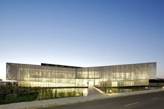 Synthon Laboratory Building  / GH+A | Guillermo Hevia - ceiling material, facade screen, signage, etc.