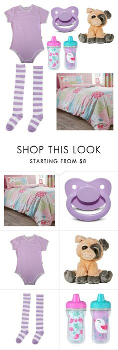 """""""Pastel baby girl naptime"""" by dino-baby-girl ❤ liked on Polyvore featuring Canterbury and The First Years"""
