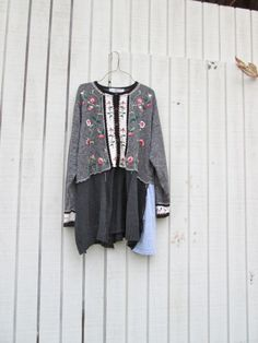 romantic Upcycled clothing / Patchwork Sweater Dress by CreoleSha, $87.00