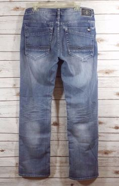 Buffalo David Bitton Driven X Straight Stretch Distressed Grunge Jeans 34x34  #BuffaloDavidBitton #Straight