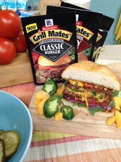 McCormick's Jalapeno  Cheddar Stuffed Burgers  #homeandfamilytv