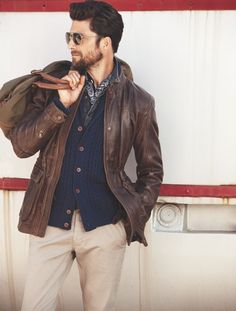 Brown and blue // #fallstyle