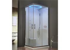 Novellini Eon A Dusjkabinett Hydro mm, Med massasje og LED-lys Lockers, Locker Storage, Divider, Bathtub, Cabinet, Bathroom, Furniture, Home Decor, Sliding Door