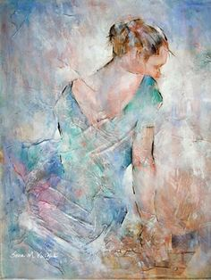 Ballerina Resting - Ballet Dancer 48 - Gallery of Dance Paintings by Woking Surrey Artist Sera Knight