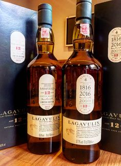 Just picked up the 2016 Lagavulin 12. Here it is with last year's bottle