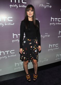 Leighton Meester Print Dress - Leighton Meester rocked a NYC soiree in a long-sleeved dress with a printed skirt. She finished off the look with colorful beaded sandals and smooth locks.