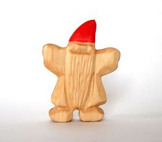 Gnome Wooden Gnome Goblin wooden toys by Baumstammbuch on Etsy