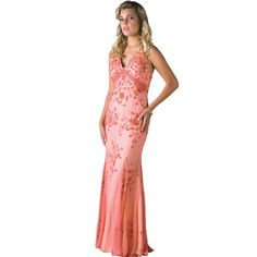 Formal Evening Gown. Silk Beaded Tank Dress for Prom, Party, Wedding by Sean Collection (50114 XL), $139
