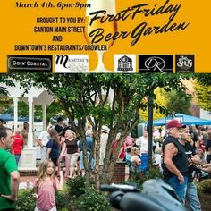 Looking for something to do next Friday? When was the last time you checked out Downtown Canton? Well Canton's 1st First Friday of 2016 will be March on the 4th from 6pm-9pm.  The vendors in this event will be exclusively our Downtown Restaurants - who will be featuring a beer and a showcased food item! This is a great time to check out the Loop!