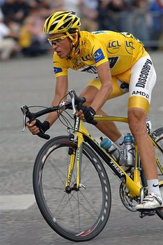 Alberto Contador Contador is one of six riders to win all three Grand Tours and joins a prestigious group of riders who have do so. They are Jacques Anquetil of France, Felice Gimondi of Italy, Eddy Merckx of Belgium, Bernard Hinault of France, and Vincen