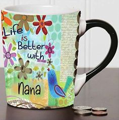 Life Is Better With Nana 20 Oz. Ceramic Coffee Mug