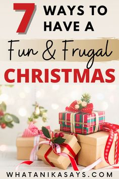 7 Ways to Have a Fun and Frugal Christmas. Tips to save money on Christmas gifts, decorations, traditions, food, stocking stuffers and kids presents when you're on a budget. #christmas #frugal #moneysaving #frugaltips #christmasgifts #christmasdecorations #frugalliving #christmastraditions #budgeting #savingmoney Diy Christmas Presents, Christmas On A Budget, Christmas Gifts For Girlfriend, Presents For Kids, Homemade Christmas Gifts, Kids Christmas, Homemade Gifts, Christmas Decorations, Diy Gifts