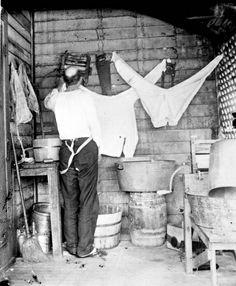 The laundry, c. 1900