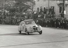 In 1955 this French-built Citroen 2CV (#11) kept up the blistering pace to come in 264th/279 finishers.