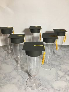 Graduation Party Decoration -Champagne Toppers 12 ct