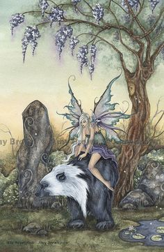 fayhaven: (via Fairy and Bear The Neverglade MiniPrint by Amy by AmyBrownArt)
