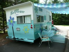 1964 Oasis Travel Trailer Bellflower by NewLIfeVintageRVs