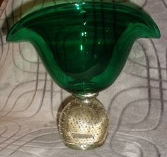 Feb 20, 2015.  Price: US $100.00 Shipping: $16.00 Erickson Fan Vase Green Controlled Bubble Mid Century Modern | eBay