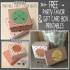 free party favor box printables