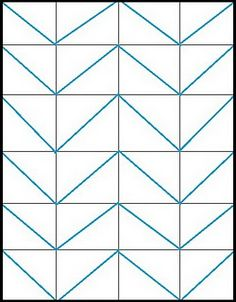 how to draw a straight Chevron pattern