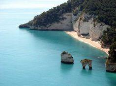 Beaches in Puglia Italy,Gargano - Baia delle Zagare - Spiagge del Gargano