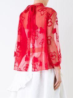 Simone Rocha sheer floral blouse