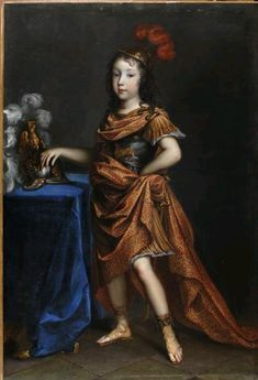 Philippe de France, Monsieur, duc d'anjou, later duc d'Orleans, as Bellerophon, 1650 by Jean Nocret (1615-1672)