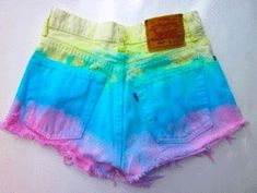 Diy clothes for summer shorts tie dye trendy Ideas Shorts Diy, Gym Shorts Womens, Short Tie Dye, Ty Dye, Summer Outfits, Cute Outfits, Summer Shorts, Mein Style, Short Jeans