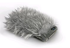 Fluffy iphone cover, love it!