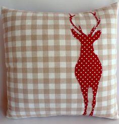 Christmas Stag Cushion