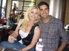 Alison Sweeney and Galen Gering who play Sami and Rafe Hernandez...