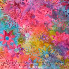 LOVE THIS!!!! Primo Batiks - Floral Yardage - Molly B's Studio - Marcus Fabrics
