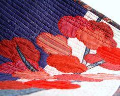 Modern Textile Art Contemporary Art Quilt Wall by BozenaWojtaszek