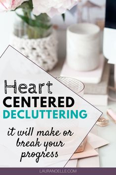 Starting the decluttering process is emotional. Here's how heart-centered decluttering changes everything. Small Bathroom Organization, Life Organization, Organizing, Getting Rid Of Clutter, Declutter Your Life, Decluttering, Simple Living, Clean House, Storage Solutions