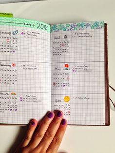 The Bullet Journal - Photos - Community - Google+ Nice future planning layout