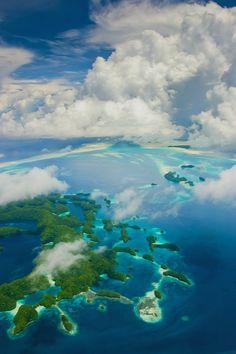 Palau Rock Islands from the air ||aussieSkiBum