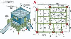 Plan cabane sur pilotis Playhouse Plans, Baby Cats, Play Houses, Playground, Mini, Tiny House, How To Plan, Holiday Decor, Images