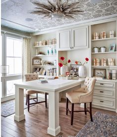 Dislike to ceeling, but the idea of the desk and the furniture against the wall is interesting.  What if our windows go in the middle of the bookshelfs?