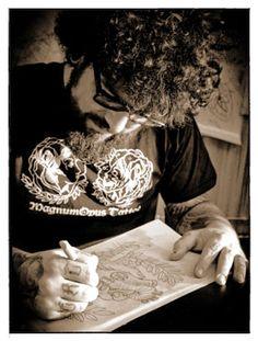 Bearded Tattoo Artist Roberto Seifert Herzblut #tattoos #guyswithtattoos #inkedguys #tattoo