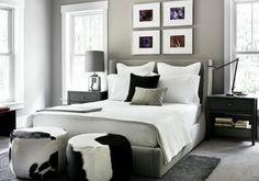 paredes grises dormitorio