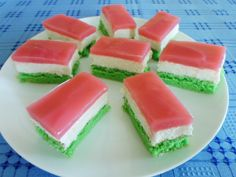 5 Ingredient Desserts, Different Cakes, Cake Bars, Cantaloupe, Jelly, Watermelon, Muffin, Food And Drink, Sweets
