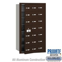 Salsbury Industries Commercial Horizontal Mailbox 21 A Door Rear Loading Private Access Security Mailbox, Safety And Security, Commercial Mailboxes, Aluminium Doors, Home Safety, Locker Storage, 2 Keys, Plastic Card, Color Bronze