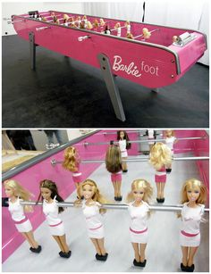 I would love to have this Barbie Fooseball table.
