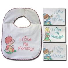 Personalized baby clothes precious moments licensed brand was 300 precious moments sweet saying baby bib clearance negle Images