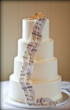Premier Pastry creates some of the best wedding cakes in the Rochester area. Music Wedding Cakes, Piano Wedding, Music Themed Cakes, Music Cakes, Cool Wedding Cakes, Beautiful Wedding Cakes, Beautiful Cakes, Amazing Cakes, Bolo Musical
